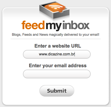 FeedMyInbox Screen