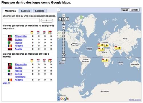 Google lança site dedicado aos Jogos Olímpicos de Pequim