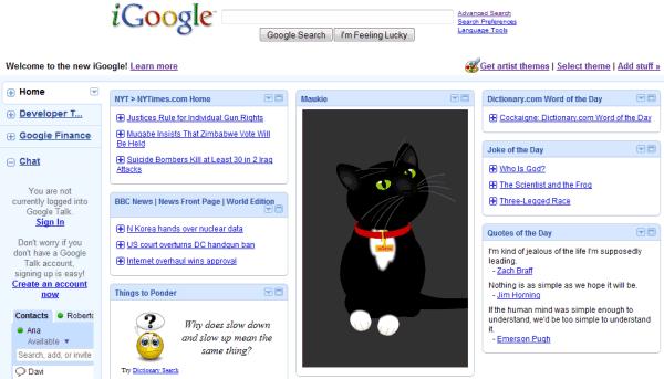 Como ver o novo iGoogle