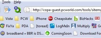 Mais linhas na barra de favoritos do Firefox