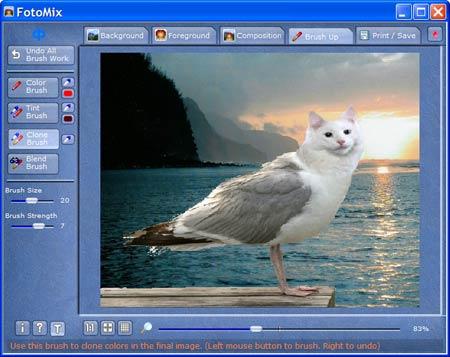 Montagens de fotos com Fotomix