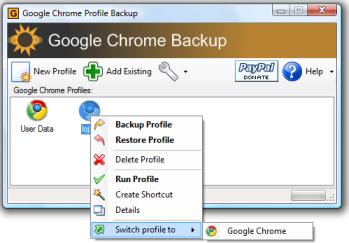 Google Chrome Profile Backup