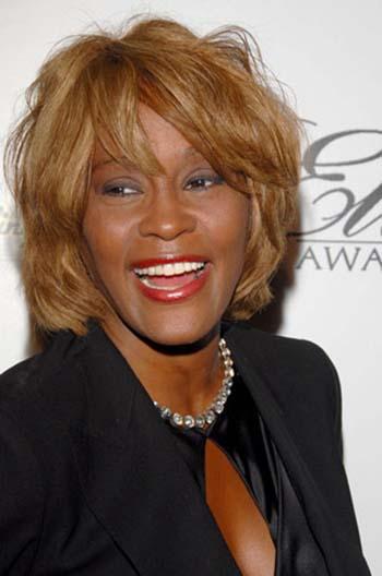 Whitney Houston rindo