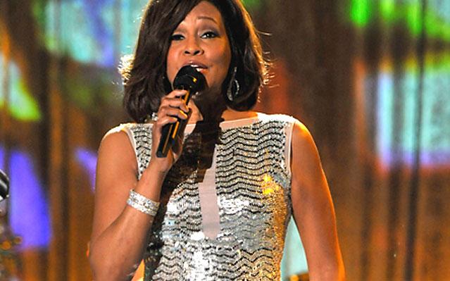 Whitney Houston em concerto de música