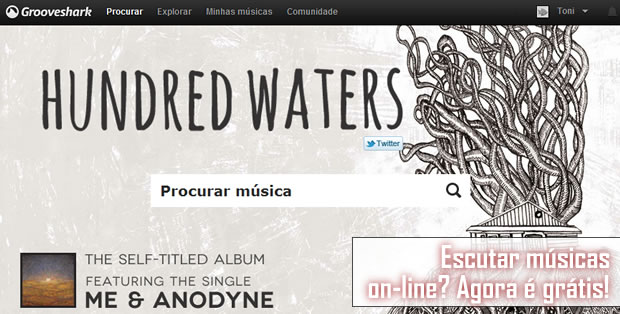 Escute músicas on-line de graça com o Grooveshark
