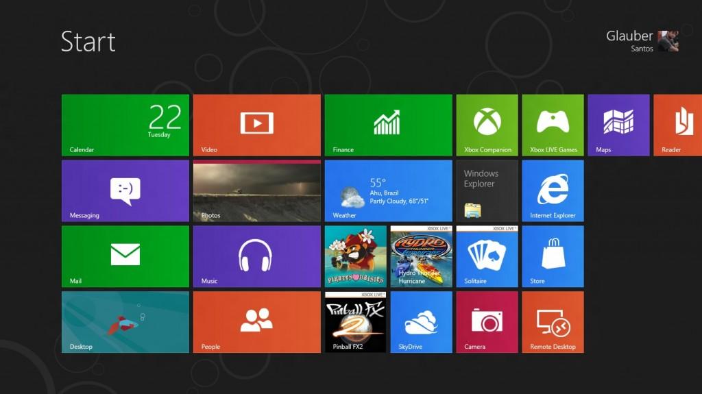 Windows 8 - O fim do Botão Iniciar