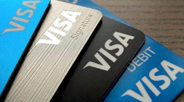 Destacar os diferentes cartões Visa