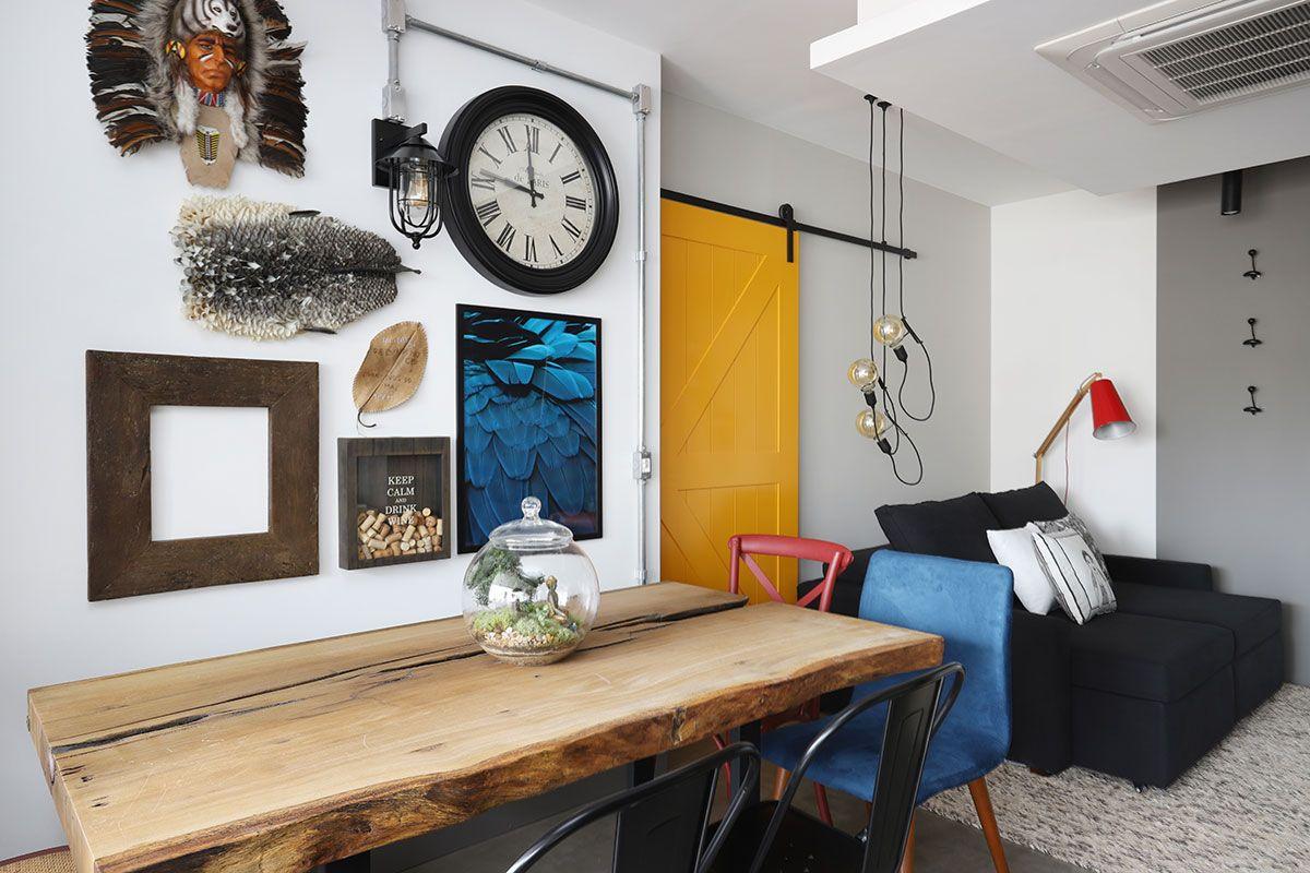 Surpreendente essa decoração de apartamento pequeno - Confira