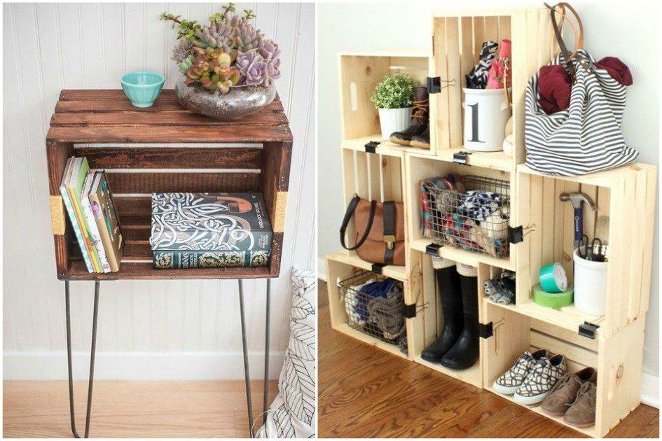 Ideias criativas para reutilizar caixote de feira na decoração